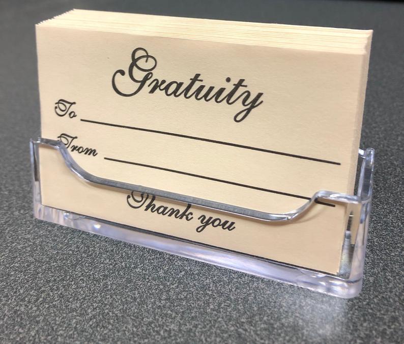 Gratuity Envelopes