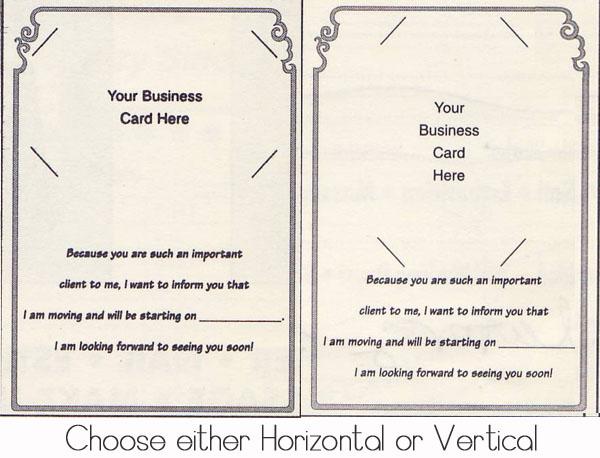 I've Moved Client Cards