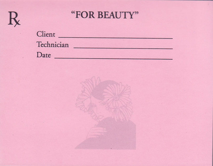 Rx Prescription for Beauty Pads (2 Pack, Pink)
